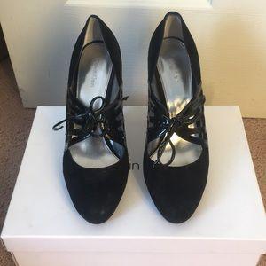 Calvin Klein black high heel pumps